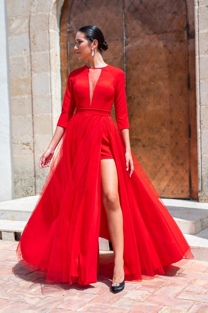 vestido rojo Silvia Navarro