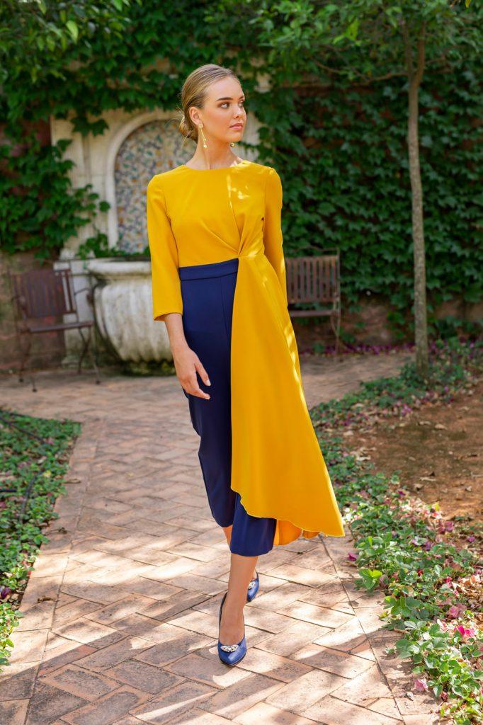 vestido bicolor Silvia Navarro