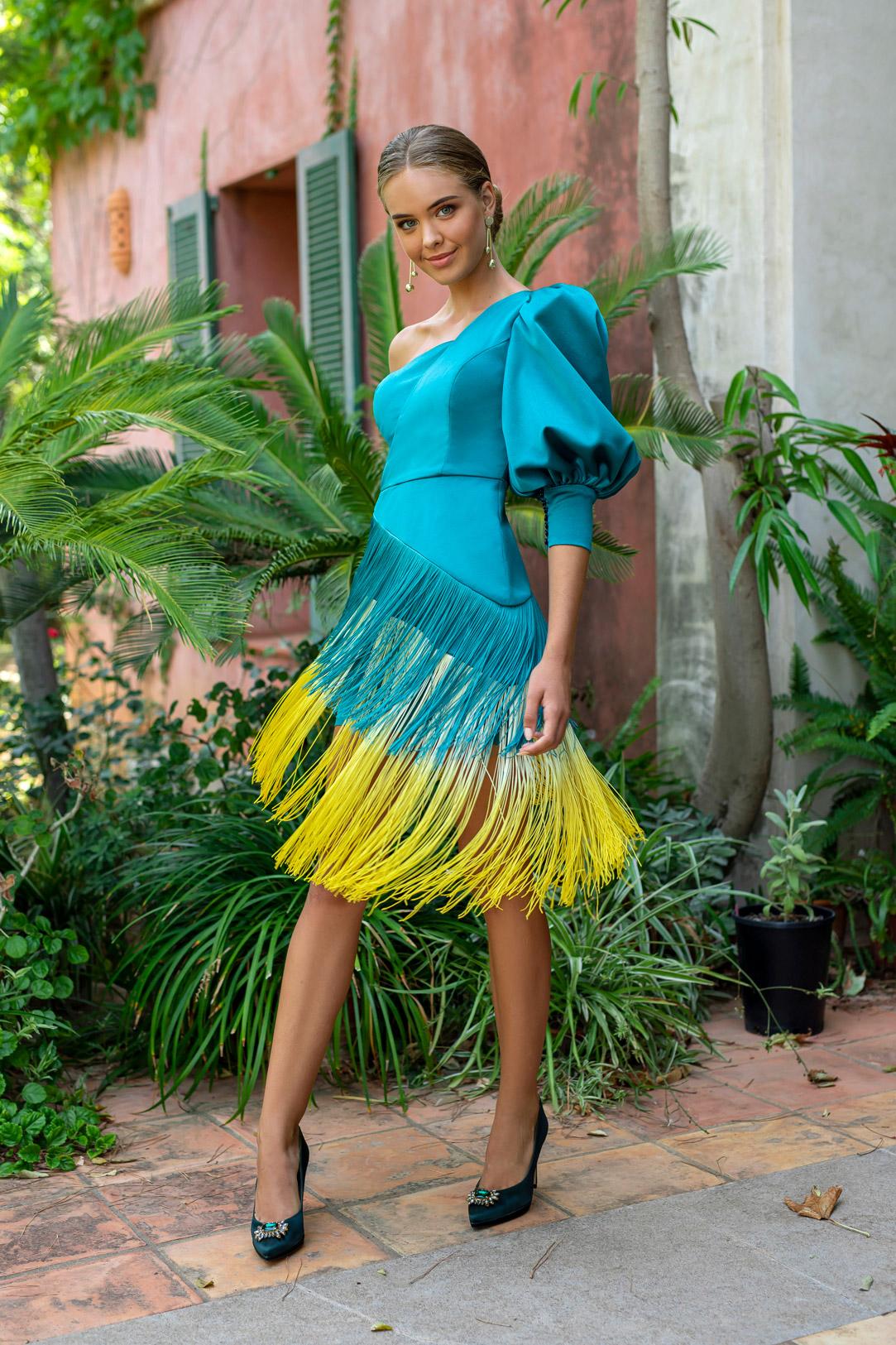 vestido bicolor fotografo moda