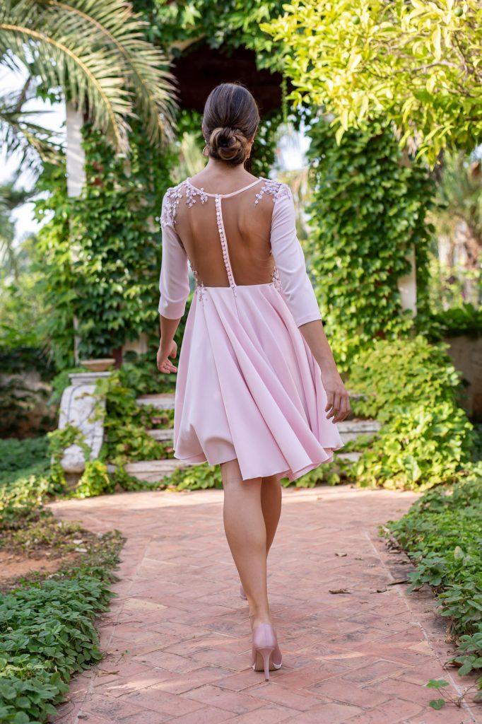 vestido rosa espalda fotografo moda