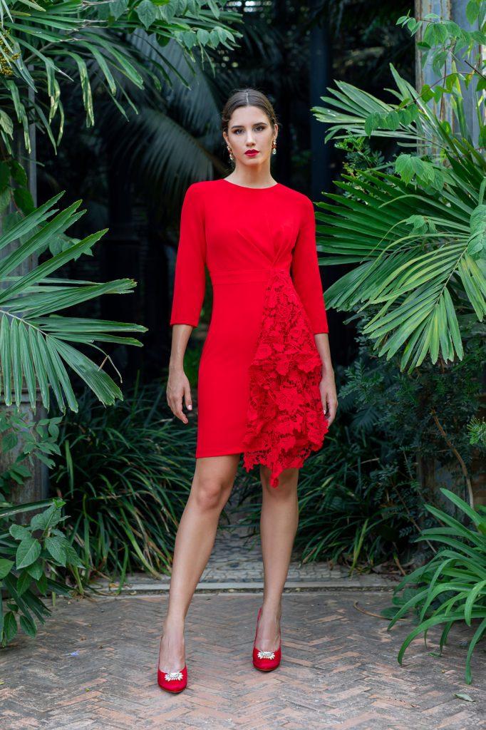 nuevo vestido sexy rojo