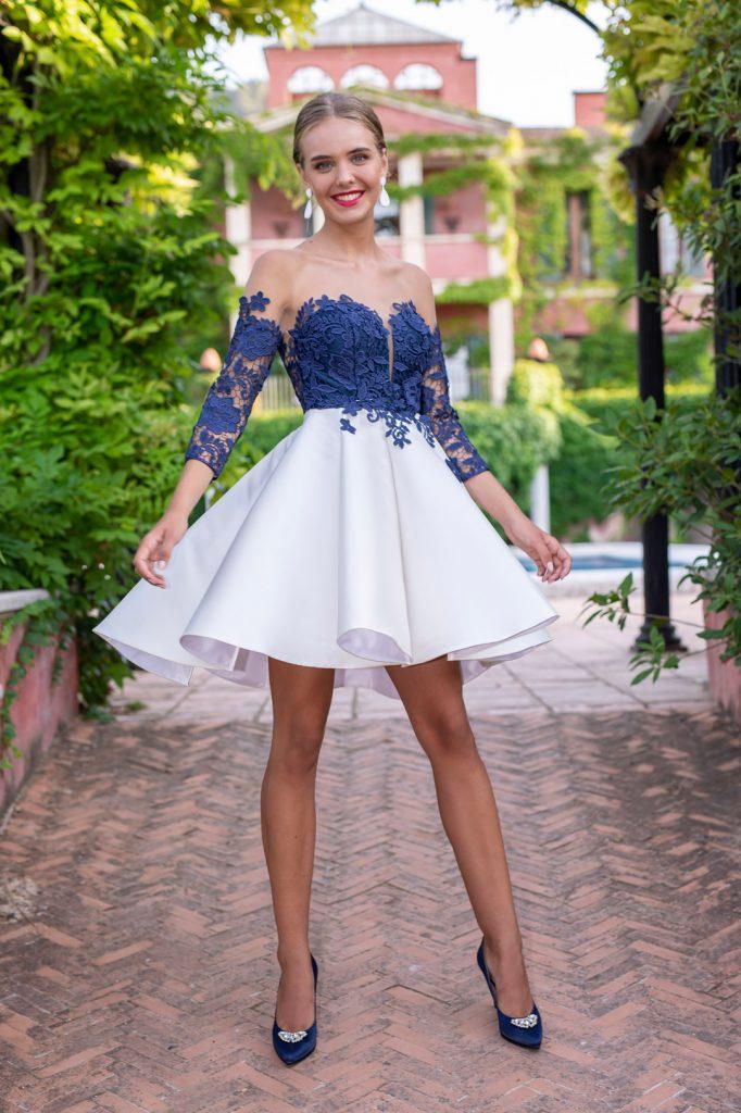 vestido falda bicolor fotografo moda alicante