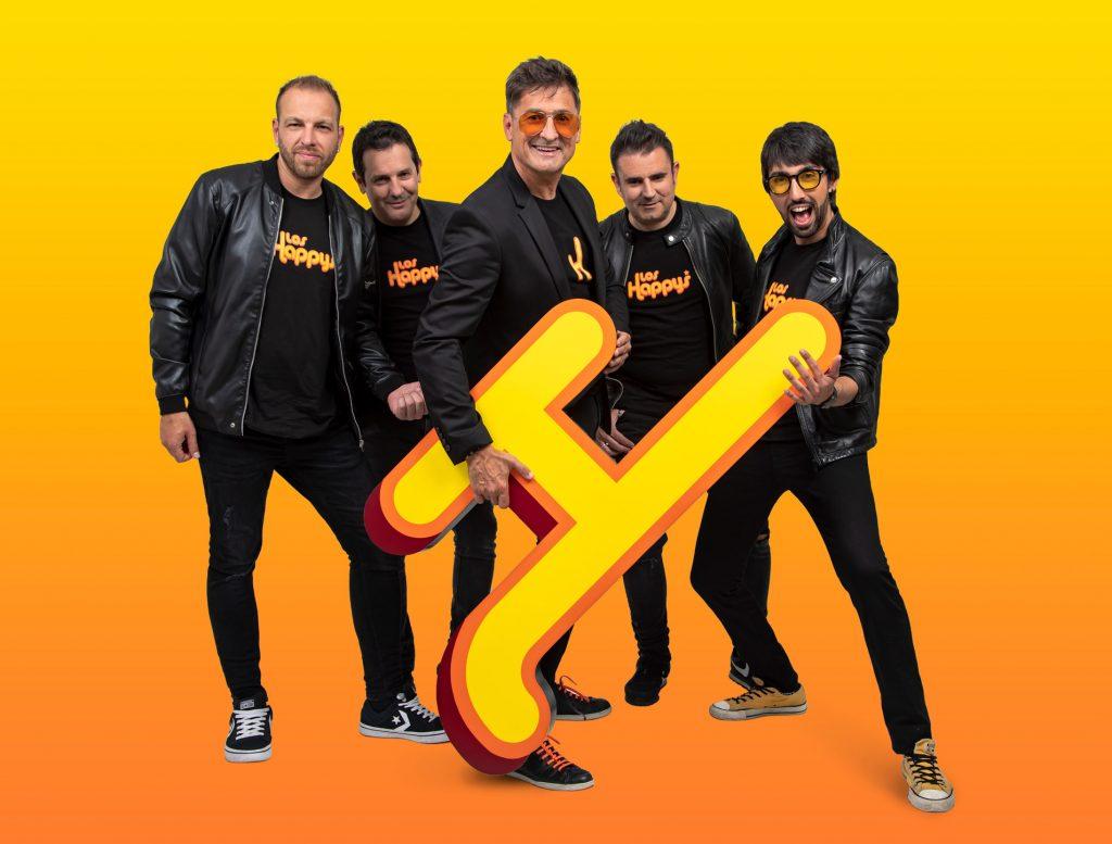 retrato grupo musical Los Happys