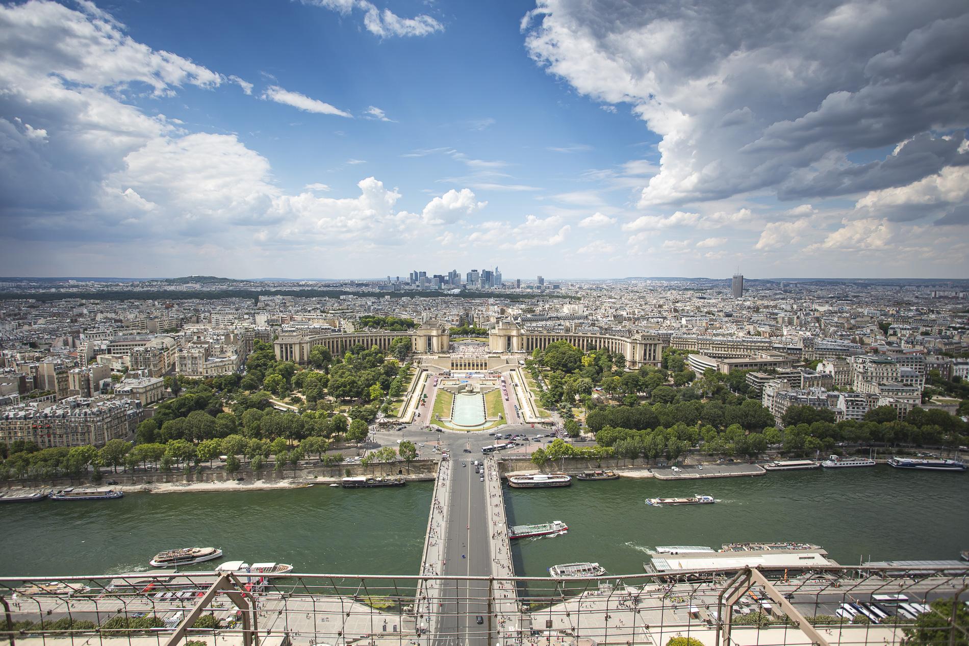 vistas de París desde la Torre Eiffel