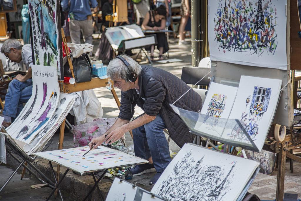 Barrio de Montmartre-Paris