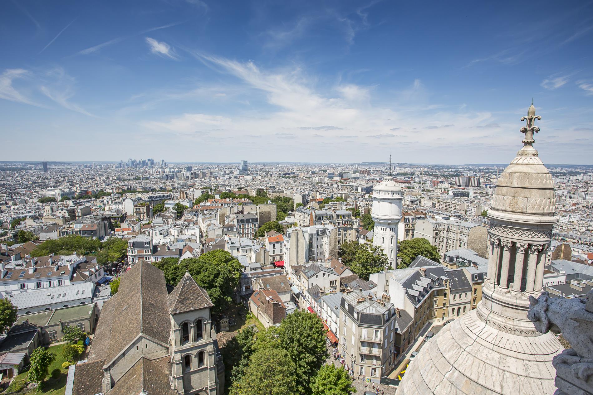 Vistas de París desde la cúpula de Sacré-Coeur