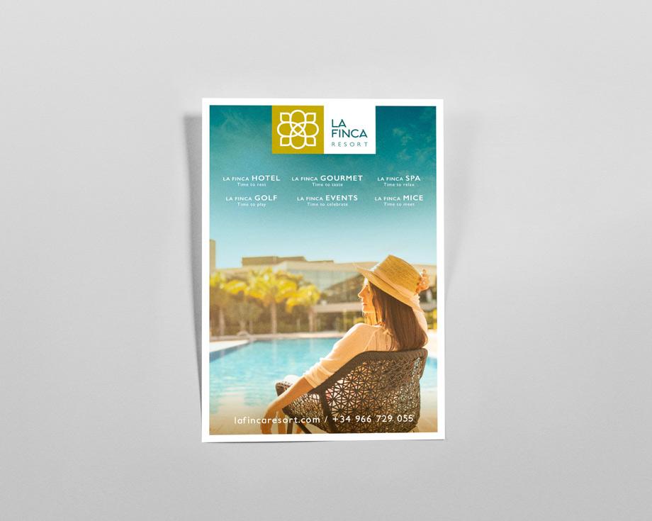 Cartel Publicidad La Finca