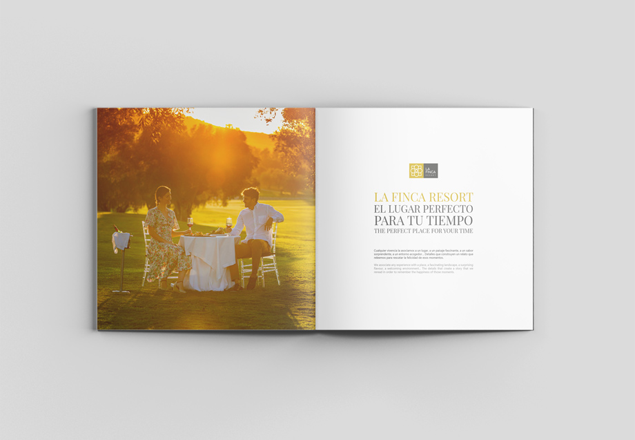 catalogo corporativo La Finca Resort - fotografia publicitaria