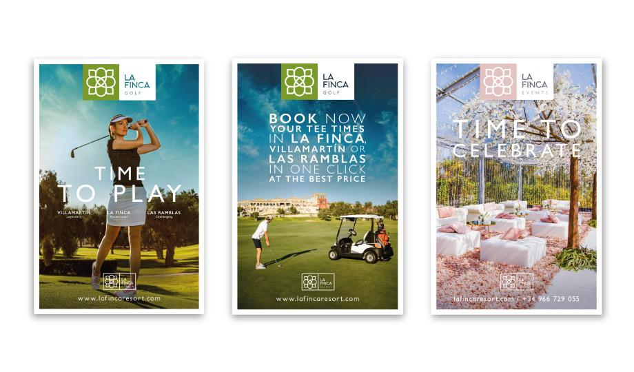 carteles campaña publicitaria La Finca Resort