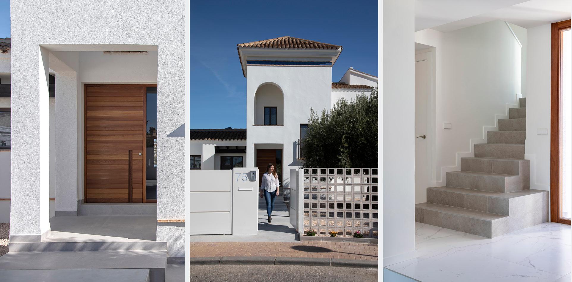 tres vistas del reportaje fotografo arquitectura en murcia